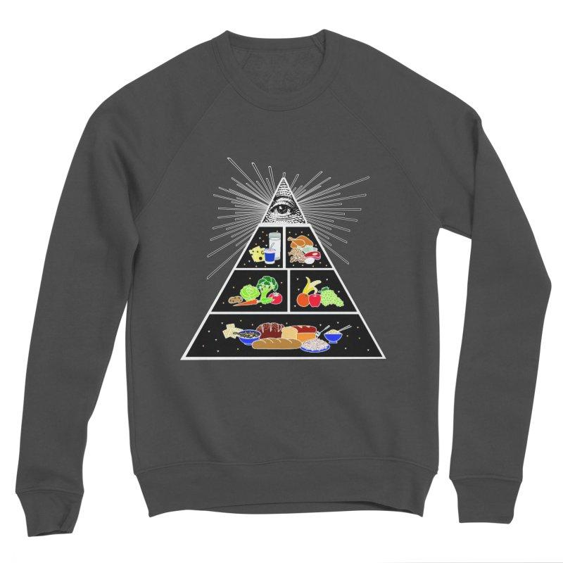 Illuminati Food Pyramid Women's Sponge Fleece Sweatshirt by Not Bad Tees