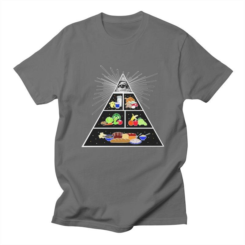 Illuminati Food Pyramid Men's T-Shirt by Not Bad Tees