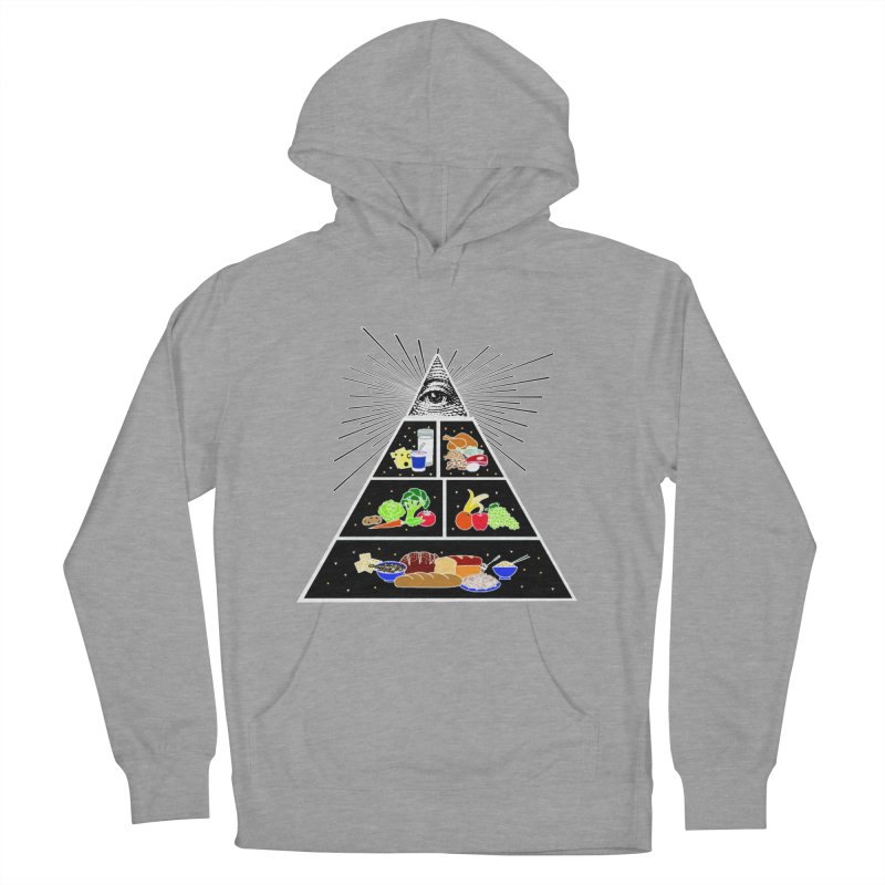 Illuminati Food Pyramid Women's French Terry Pullover Hoody by Not Bad Tees