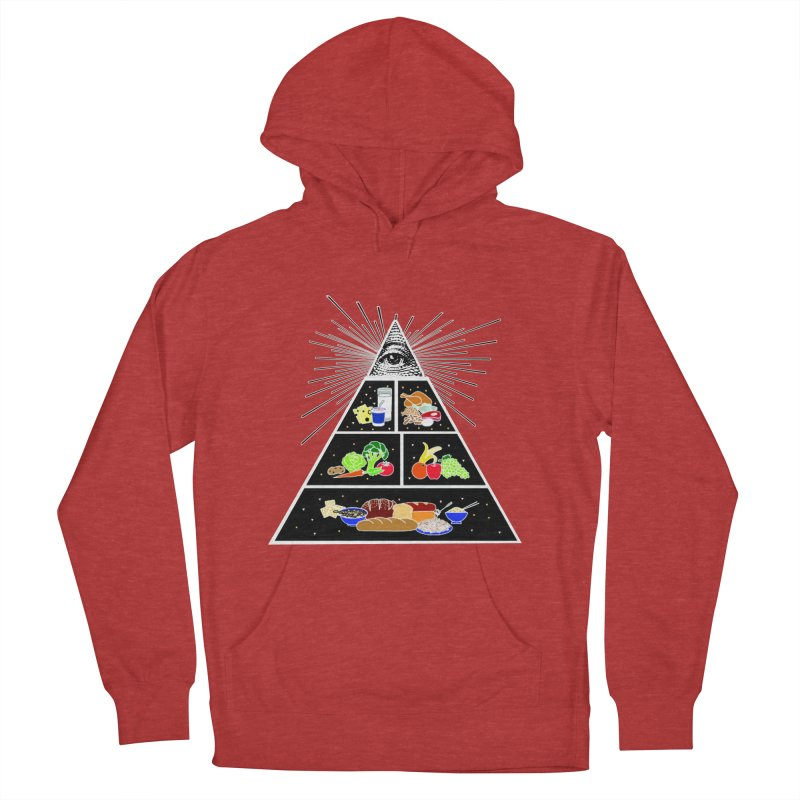 Illuminati Food Pyramid Women's French Terry Pullover Hoody by NotBadTees's Artist Shop
