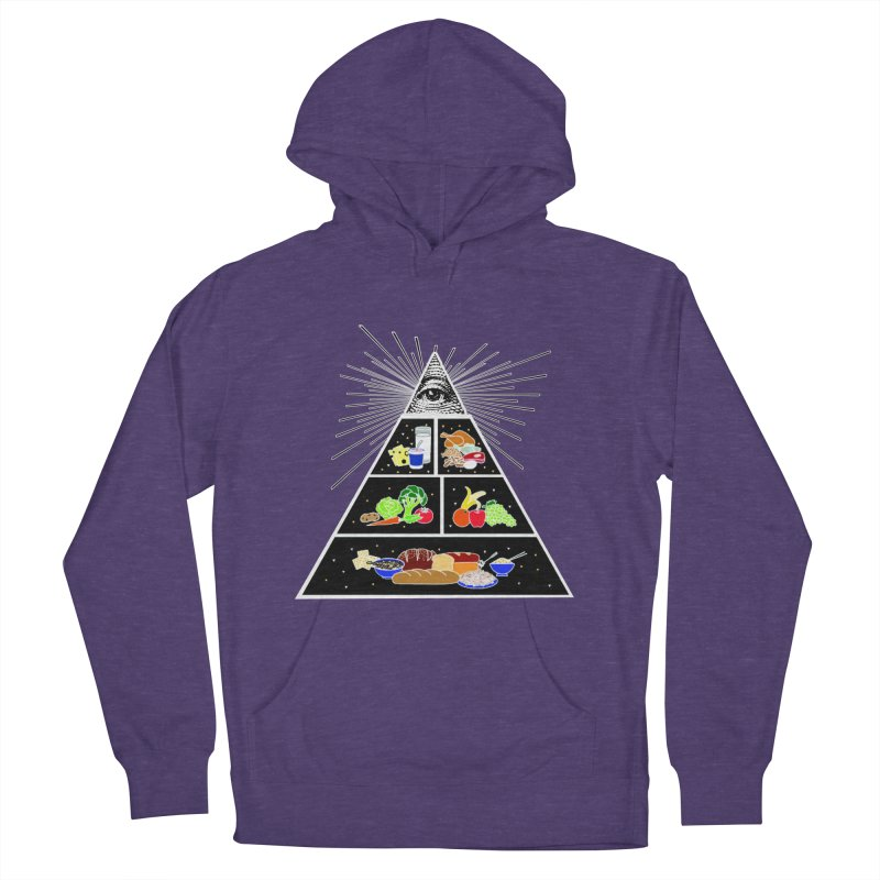 Illuminati Food Pyramid Men's French Terry Pullover Hoody by Not Bad Tees