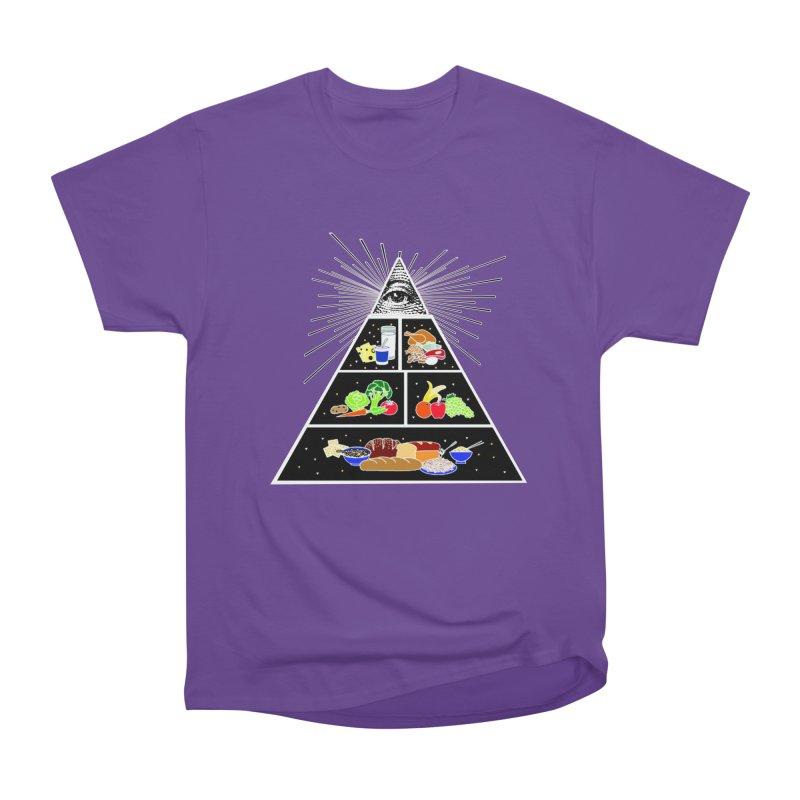 Illuminati Food Pyramid Women's Heavyweight Unisex T-Shirt by Not Bad Tees