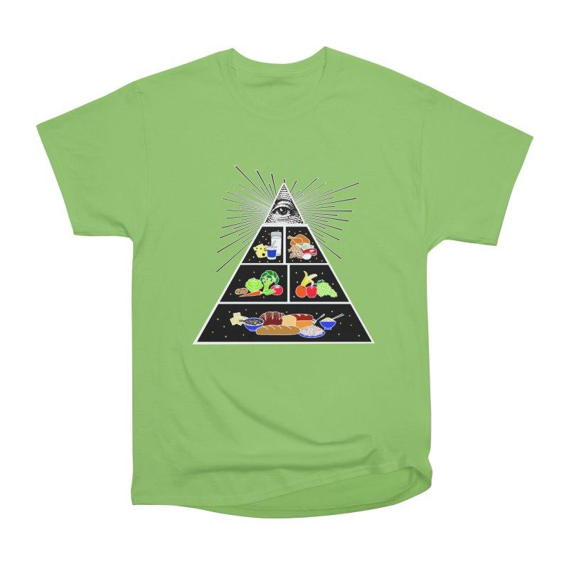 Illuminati Food Pyramid Men's Heavyweight T-Shirt by Not Bad Tees