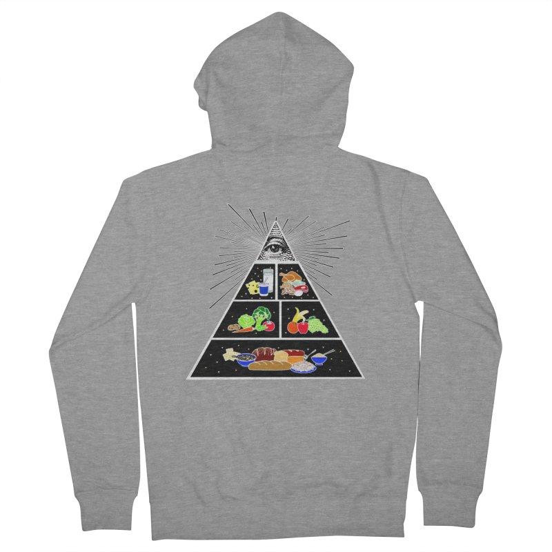 Illuminati Food Pyramid Women's French Terry Zip-Up Hoody by Not Bad Tees