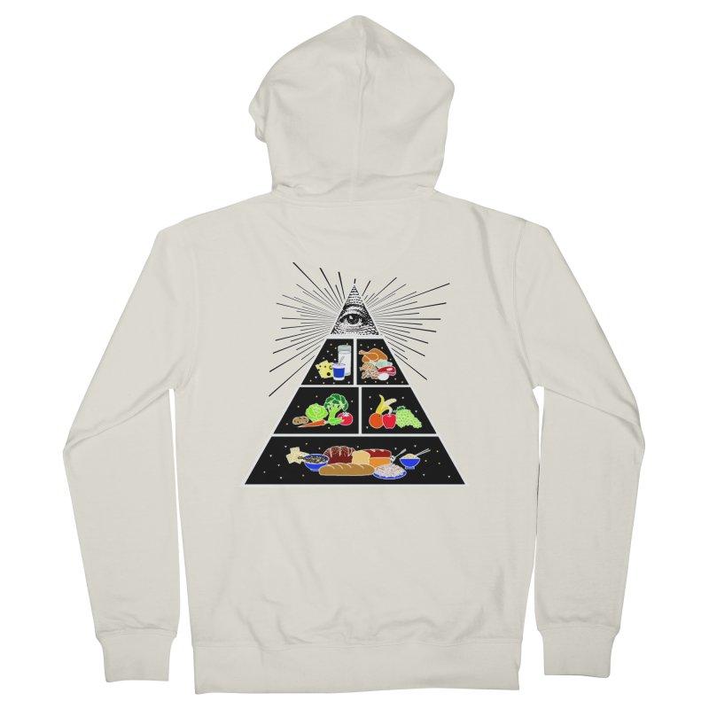 Illuminati Food Pyramid Men's French Terry Zip-Up Hoody by NotBadTees's Artist Shop