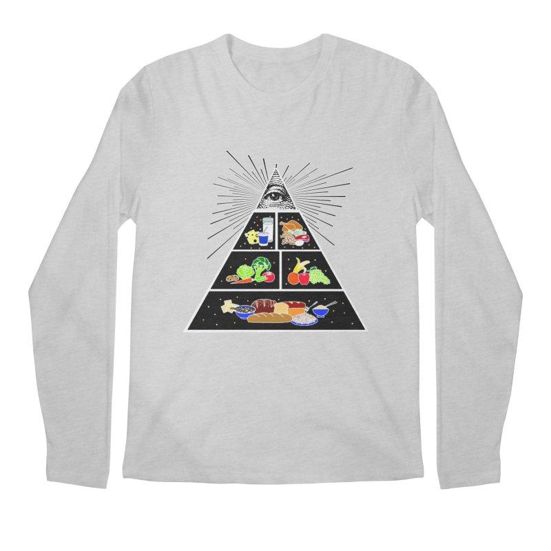 Illuminati Food Pyramid Men's Regular Longsleeve T-Shirt by NotBadTees's Artist Shop