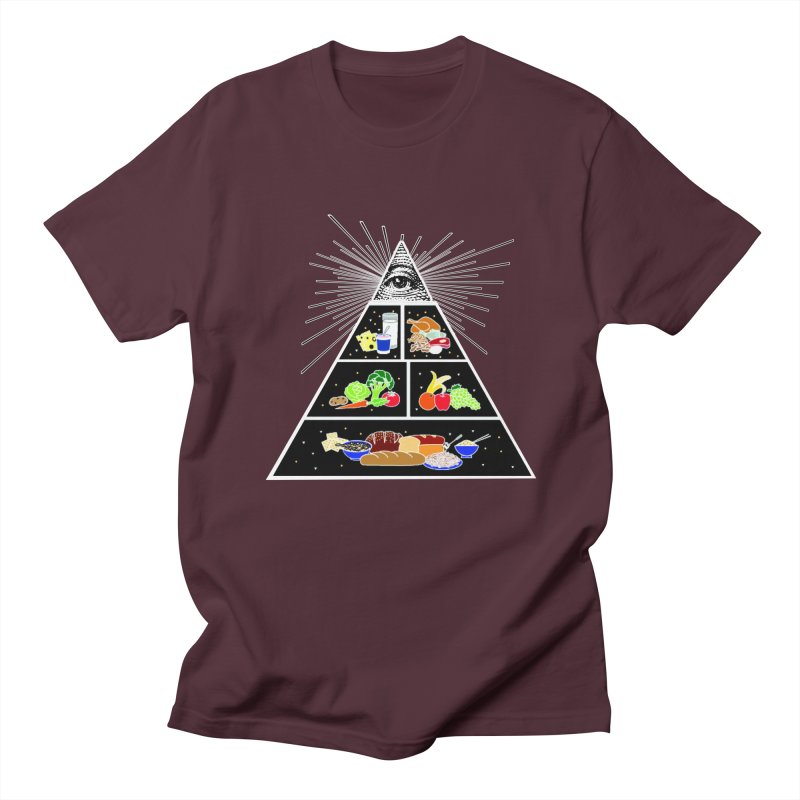 Illuminati Food Pyramid Women's Regular Unisex T-Shirt by Not Bad Tees