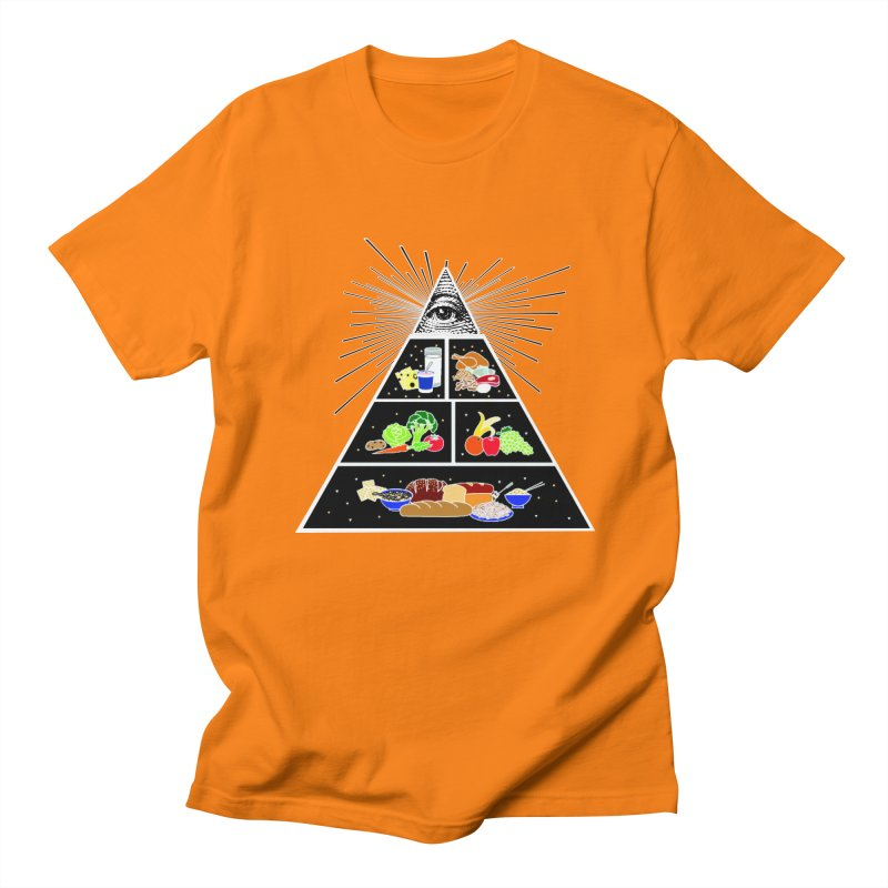 Illuminati Food Pyramid Women's Regular Unisex T-Shirt by NotBadTees's Artist Shop