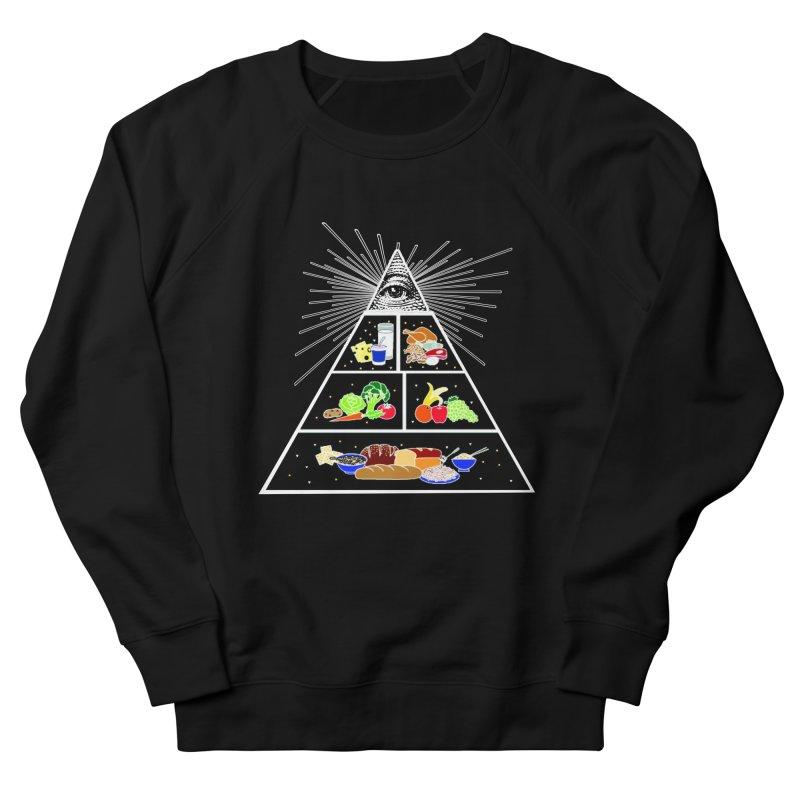 Illuminati Food Pyramid Women's French Terry Sweatshirt by NotBadTees's Artist Shop