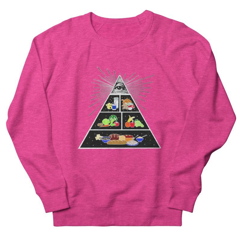 Illuminati Food Pyramid Men's French Terry Sweatshirt by NotBadTees's Artist Shop