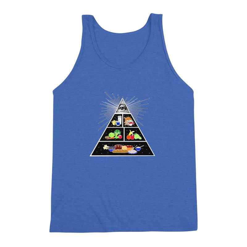 Illuminati Food Pyramid Men's Triblend Tank by NotBadTees's Artist Shop