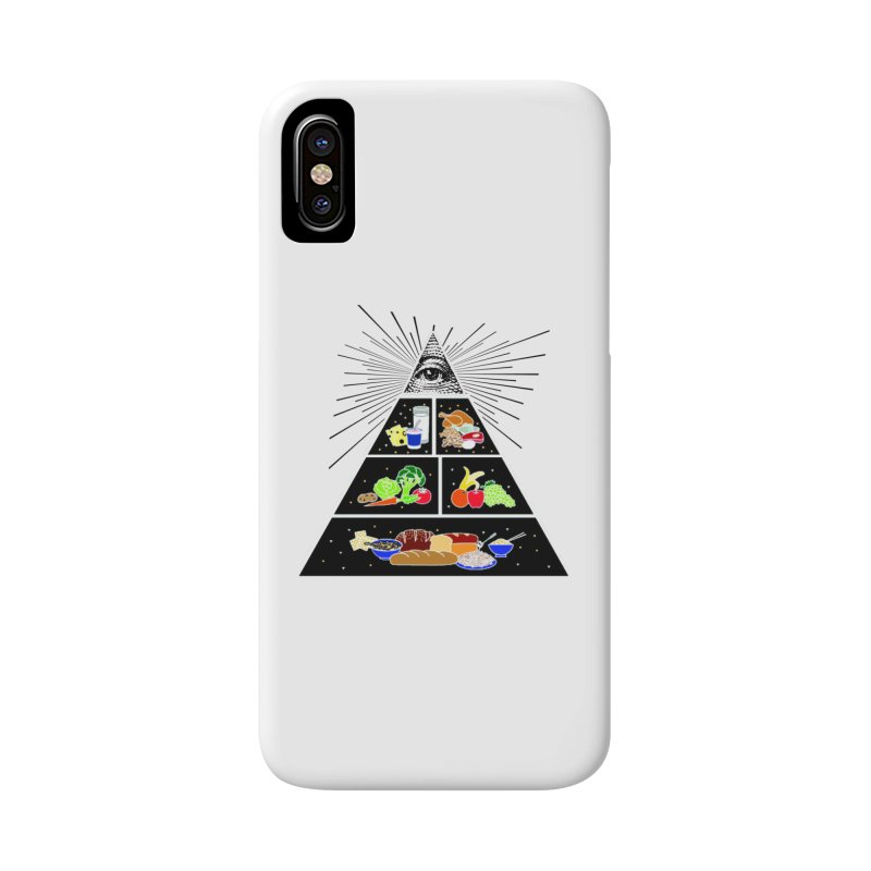 Illuminati Food Pyramid Accessories Phone Case by Not Bad Tees