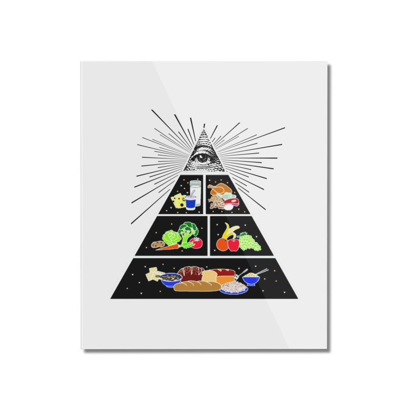 Illuminati Food Pyramid Home Mounted Acrylic Print by NotBadTees's Artist Shop