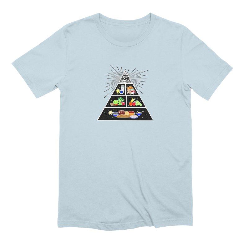 Illuminati Food Pyramid Men's Extra Soft T-Shirt by Not Bad Tees