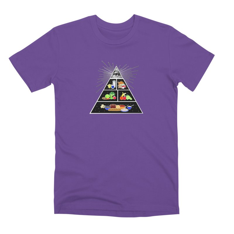 Illuminati Food Pyramid Men's Premium T-Shirt by Not Bad Tees