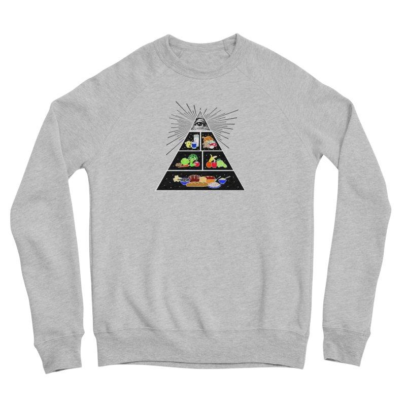 Illuminati Food Pyramid Men's Sponge Fleece Sweatshirt by Not Bad Tees
