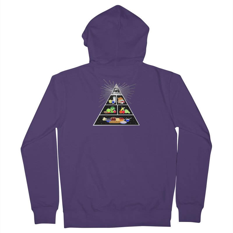 Illuminati Food Pyramid Women's French Terry Zip-Up Hoody by Not Bad Tees