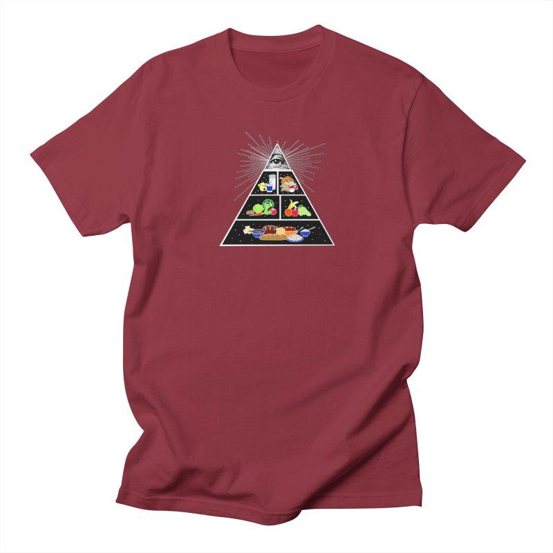 Illuminati Food Pyramid Women's Regular Unisex T-Shirt by Not Bad Tees