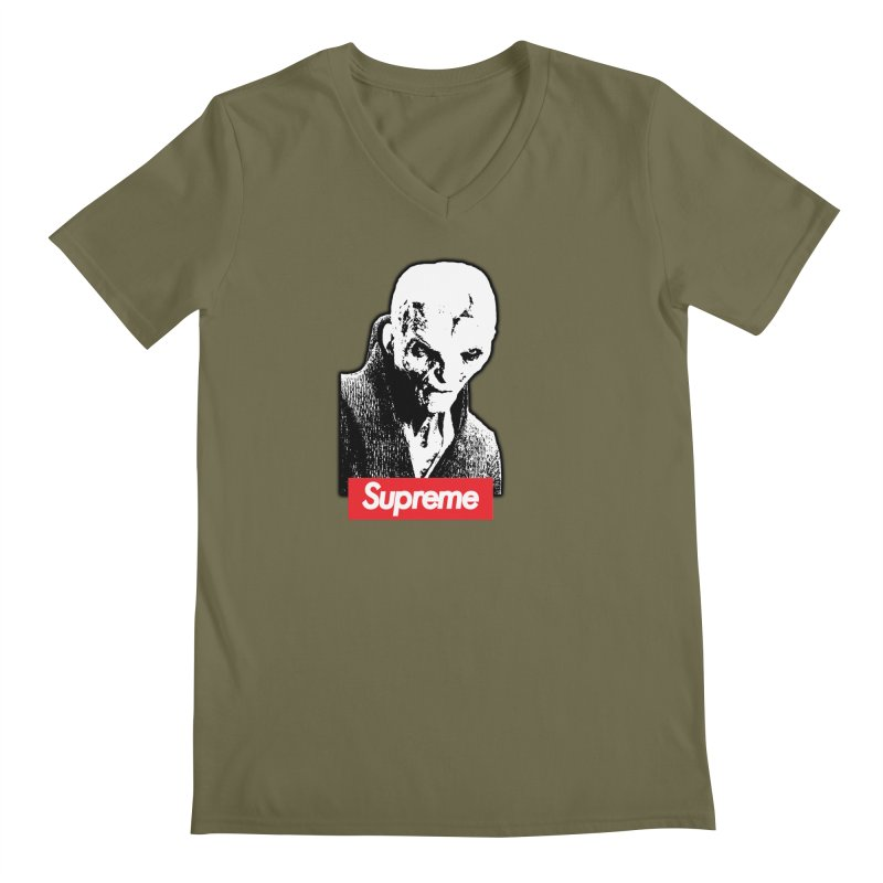 Supreme Leader Men's Regular V-Neck by Not Bad Tees