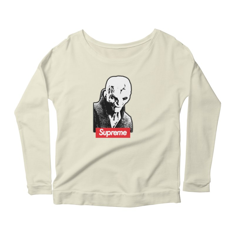 Supreme Leader Women's Scoop Neck Longsleeve T-Shirt by Not Bad Tees