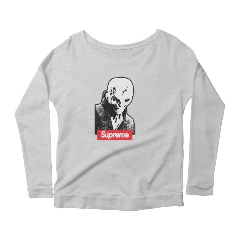 Supreme Leader Women's Scoop Neck Longsleeve T-Shirt by Not Bad Tees