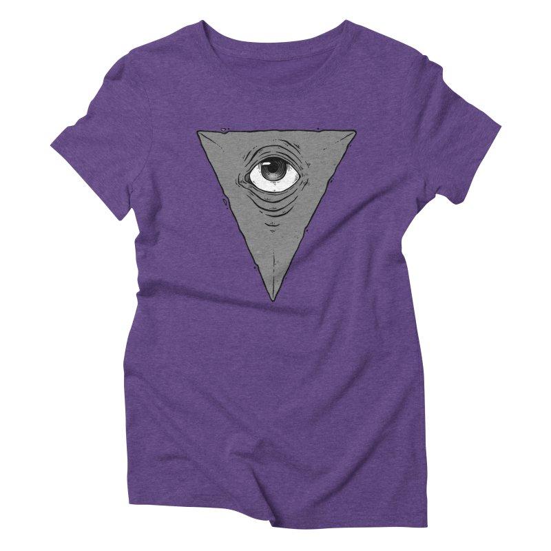 Triangle Eye Women's Triblend T-Shirt by NoviluniumEyes's Artist Shop