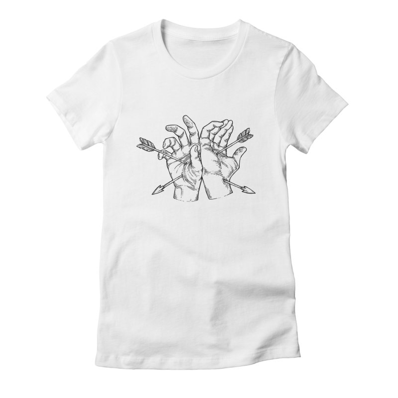 Joined Hands Women's Fitted T-Shirt by NoviluniumEyes's Artist Shop