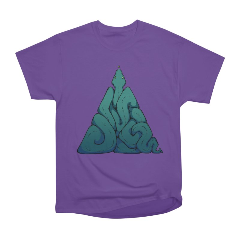 Snake Shape Triangle Men's Heavyweight T-Shirt by NoviluniumEyes's Artist Shop