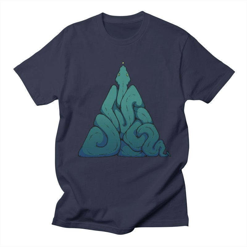 Snake Shape Triangle Men's T-Shirt by NoviluniumEyes's Artist Shop