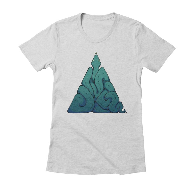 Snake Shape Triangle Women's Fitted T-Shirt by NoviluniumEyes's Artist Shop