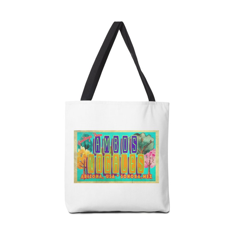 Ambos Nogales Trees Accessories Tote Bag Bag by Nuttshaw Studios