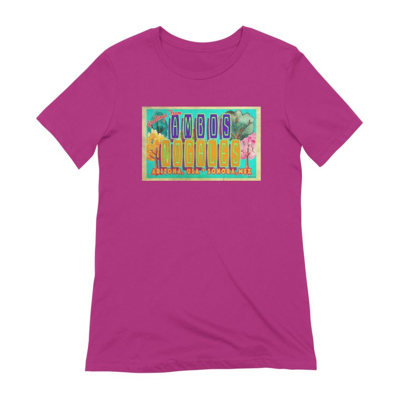 Ambos Nogales Trees Women's Extra Soft T-Shirt by Nuttshaw Studios
