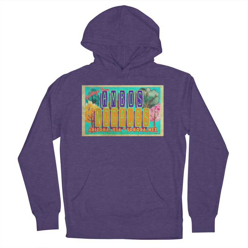 Ambos Nogales Trees Men's French Terry Pullover Hoody by Nuttshaw Studios