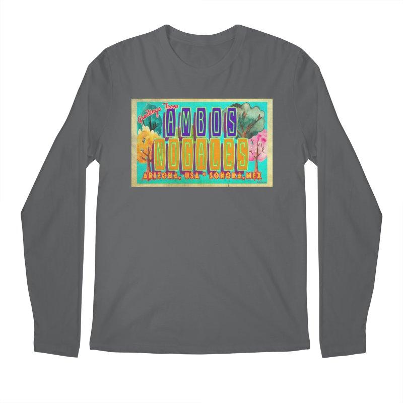 Ambos Nogales Trees Men's Regular Longsleeve T-Shirt by Nuttshaw Studios