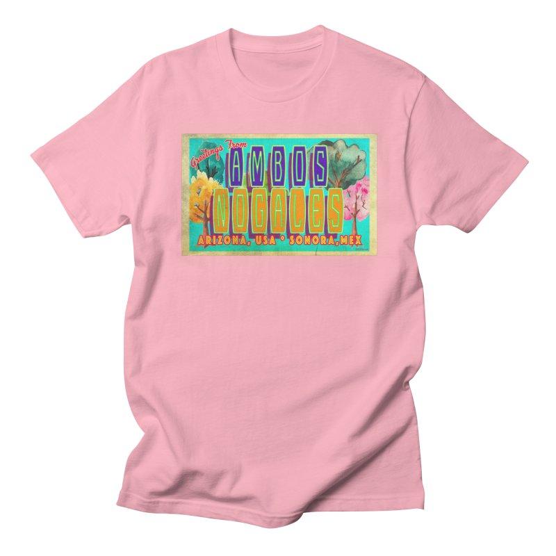 Ambos Nogales Trees Men's Regular T-Shirt by Nuttshaw Studios