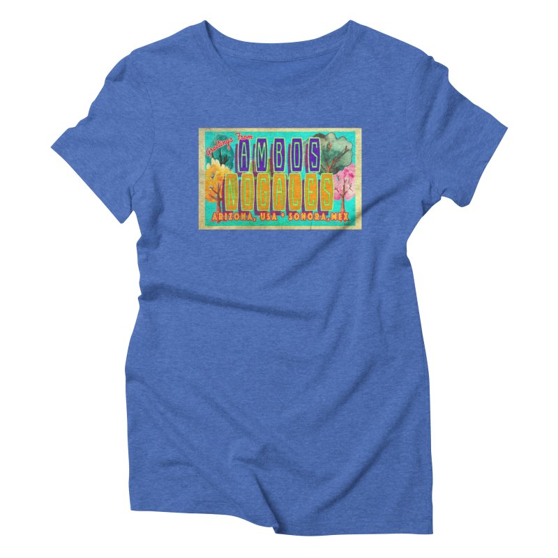 Ambos Nogales Trees Women's Triblend T-Shirt by Nuttshaw Studios
