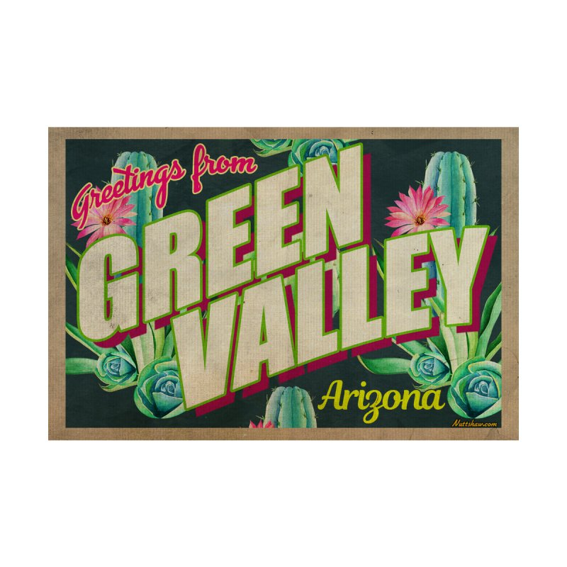 Green Valley, Arizona Men's T-Shirt by Nuttshaw Studios