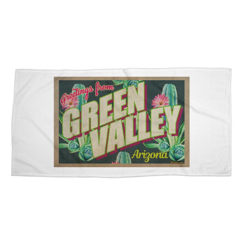 Green Valley, Arizona Accessories Beach Towel by Nuttshaw Studios