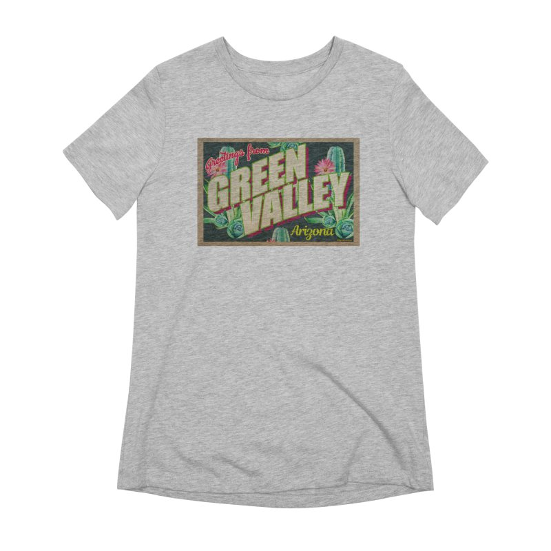 Green Valley, Arizona Women's Extra Soft T-Shirt by Nuttshaw Studios