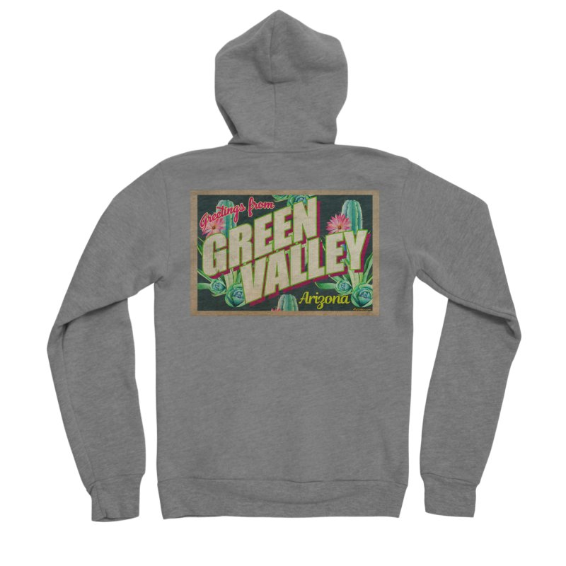 Green Valley, Arizona Men's Zip-Up Hoody by Nuttshaw Studios