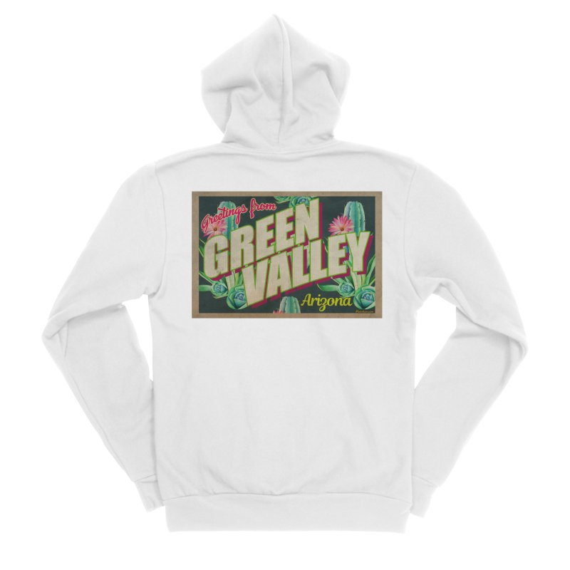 Green Valley, Arizona Women's Zip-Up Hoody by Nuttshaw Studios