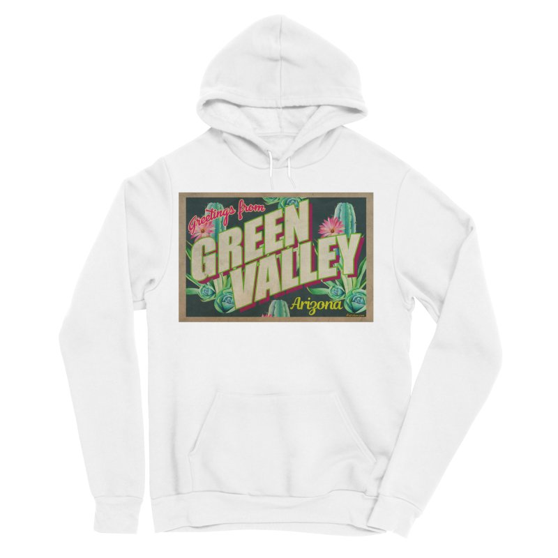 Green Valley, Arizona Men's Sponge Fleece Pullover Hoody by Nuttshaw Studios