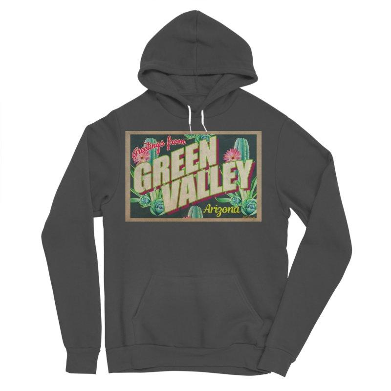 Green Valley, Arizona Men's Sponge Fleece Pullover Hoody by Nuttshaw Studios