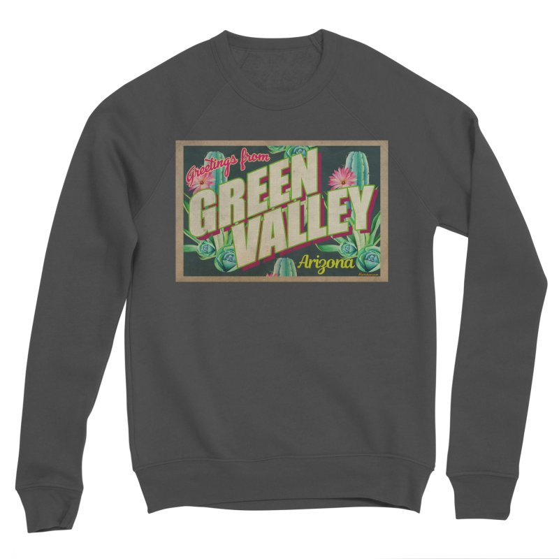 Green Valley, Arizona Men's Sponge Fleece Sweatshirt by Nuttshaw Studios