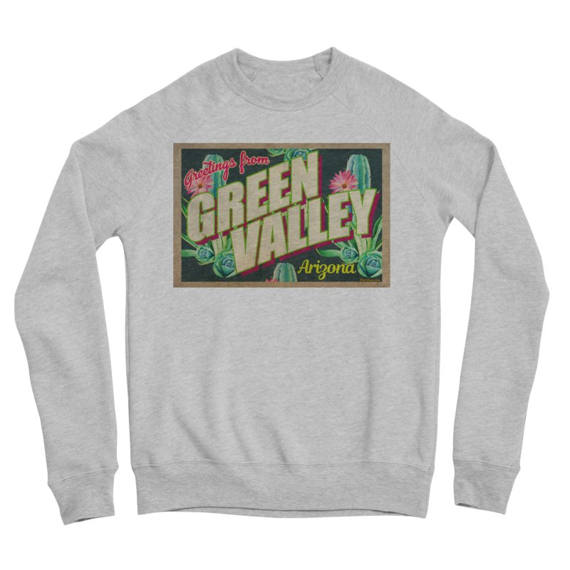 Green Valley, Arizona Women's Sponge Fleece Sweatshirt by Nuttshaw Studios