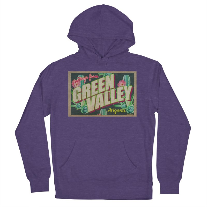 Green Valley, Arizona Women's French Terry Pullover Hoody by Nuttshaw Studios