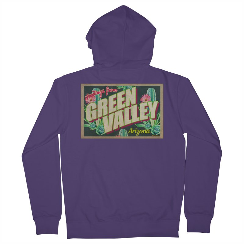 Green Valley, Arizona Women's French Terry Zip-Up Hoody by Nuttshaw Studios