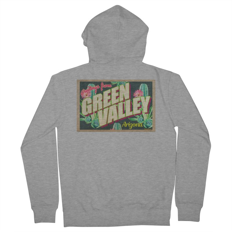Green Valley, Arizona Men's French Terry Zip-Up Hoody by Nuttshaw Studios