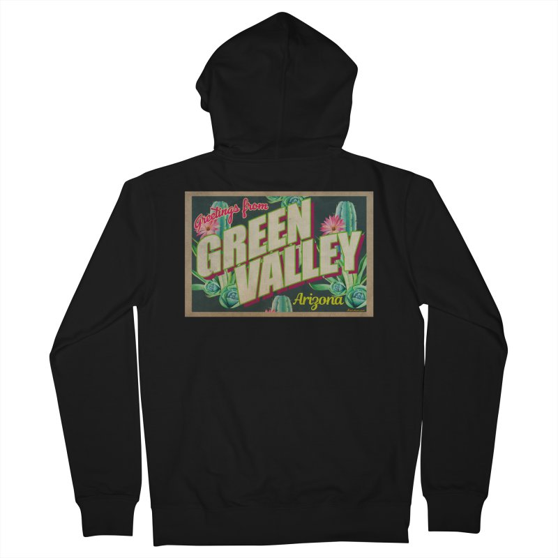 Green Valley, Arizona Men's Zip-Up Hoody by Nuttshaw Studios
