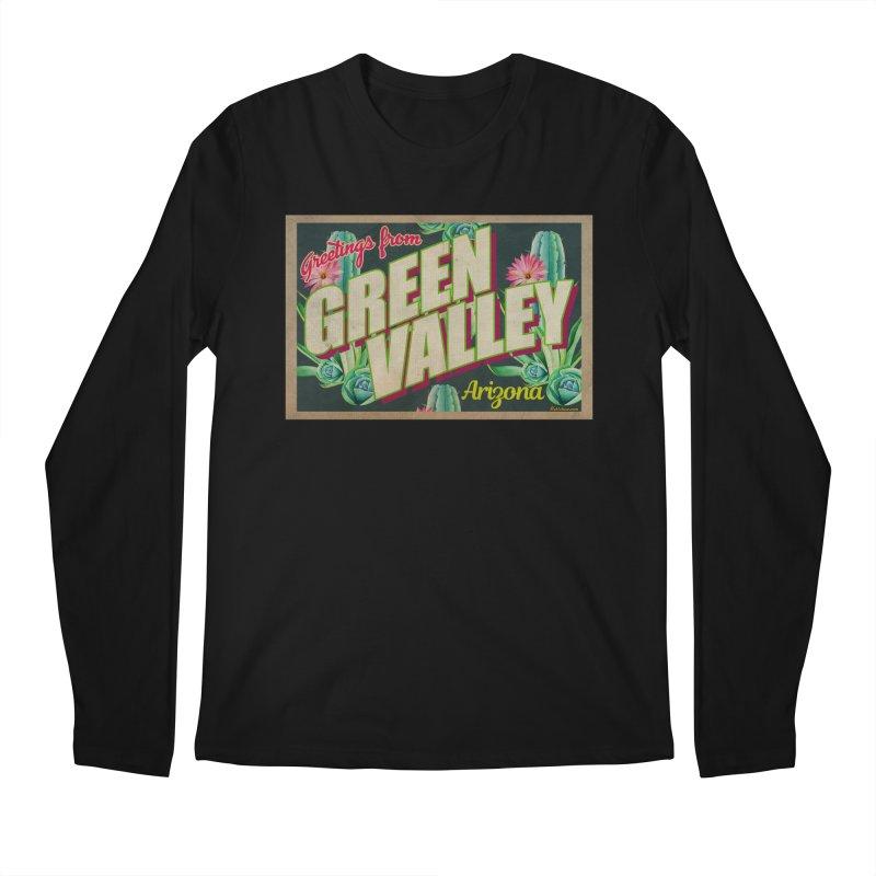 Green Valley, Arizona Men's Regular Longsleeve T-Shirt by Nuttshaw Studios